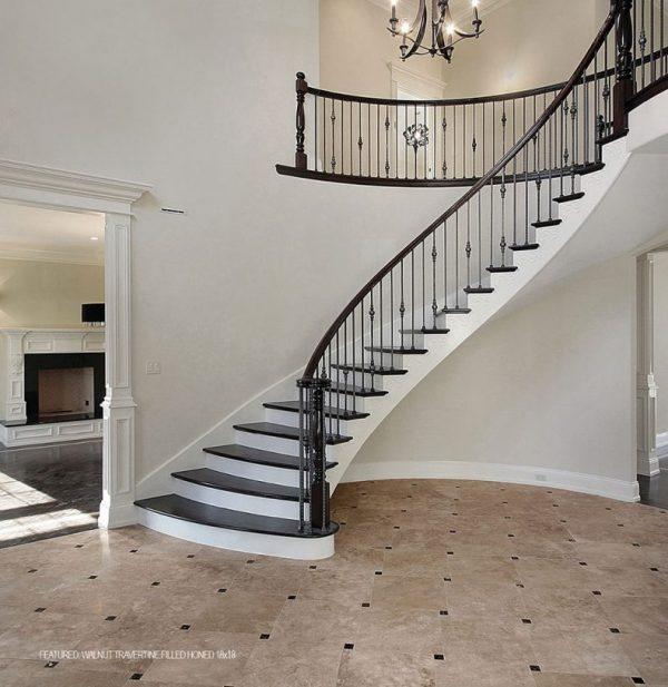 Walnut tile stair