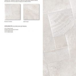 Vanilla travertine tile
