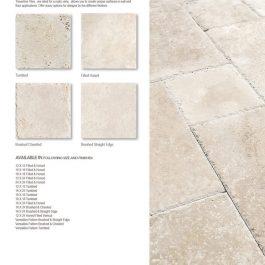 classic light travertine tile