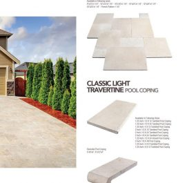 Classic Light Ivory travertine paver