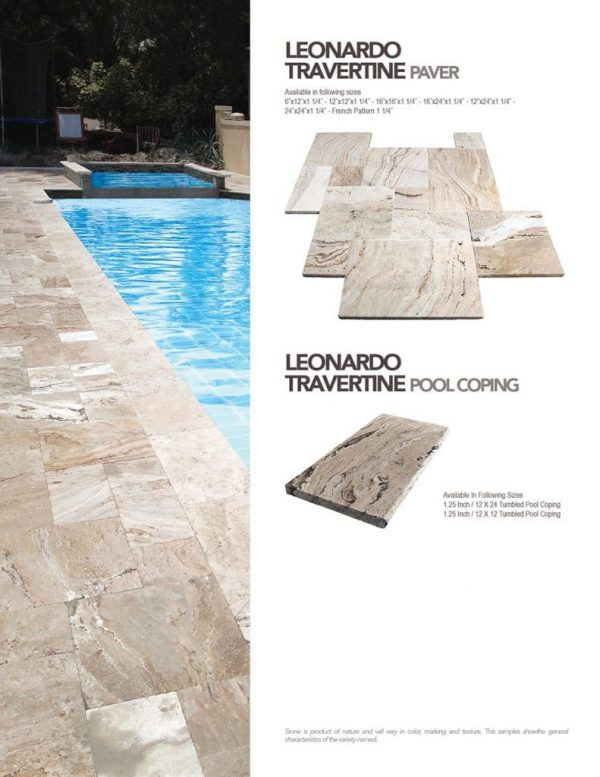Leonardo Travertine paver