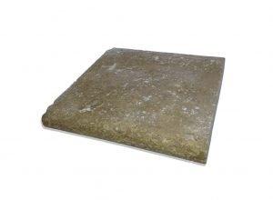 2 inch 12 X 24 Noce Bullnose Travertine Pool Coping