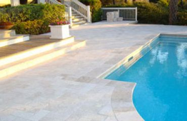 Travertine Pool Decking