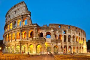 Roman Colosseum travertine