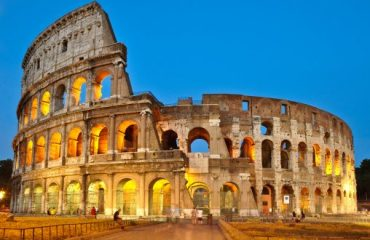 Roman Colosseum travertine