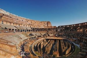 Roman Colosseum inside