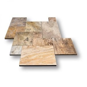 French Pattern Autumn Travertine Pavers