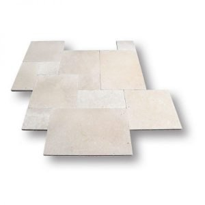French Pattern Classic Light Ivory Travertine Pavers