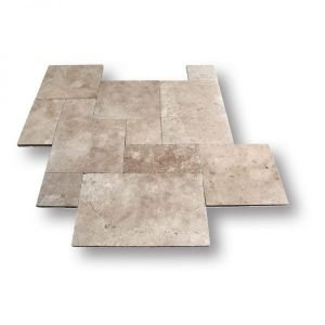 French Pattern Ivory Blend Travertine Tile