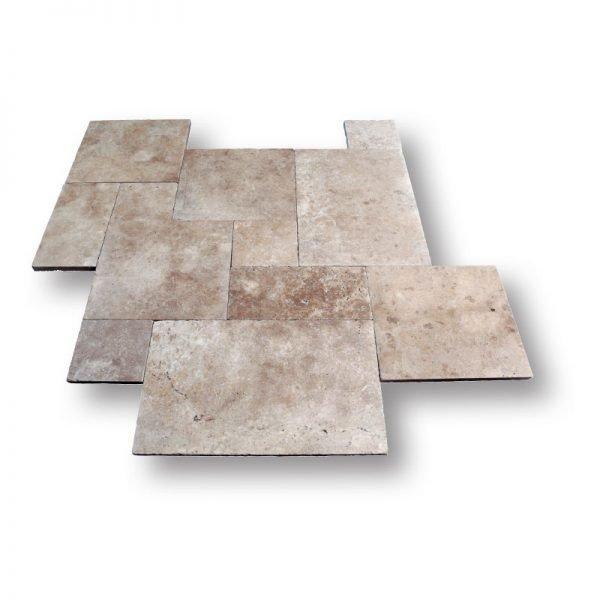 French Pattern Walnut Travertine Tile