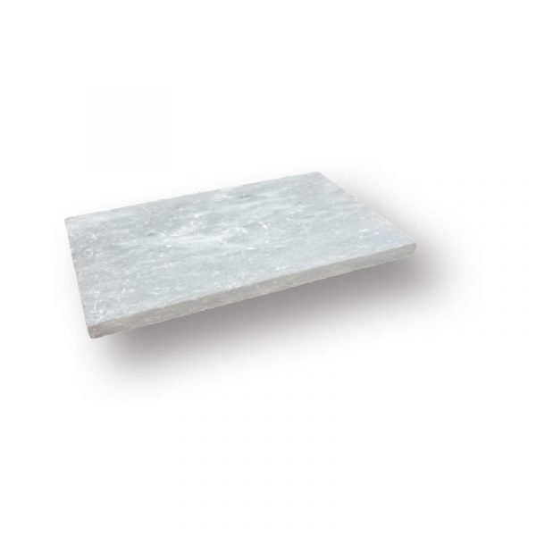 2 inch 12x24 Argento Sand Blasted Marble Modern Flat Edge Pool Coping