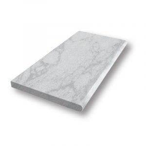 12x24 Argento Sand Blasted Bullnose Marble Pool Coping