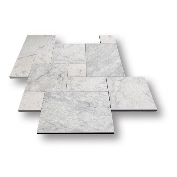 Argento Sand Blasted Marble Pavers