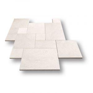 Bianco Royal Sand Blasted Marble Pavers