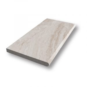 2 inch 12x24 Diana Royal Sand Blasted Bullnose Marble Pool Coping