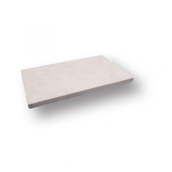 2 inch 12 X 24 Freska Tumbled Limestone Modern Flat Edge Pool Coping