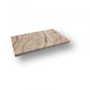 2 inch 12 X 24 Leonardo Tumbled Travertine Modern Flat Edge Pool Coping