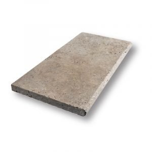 2 inch 12 X 24 Ivory Blend Bullnose Travertine Pool Coping