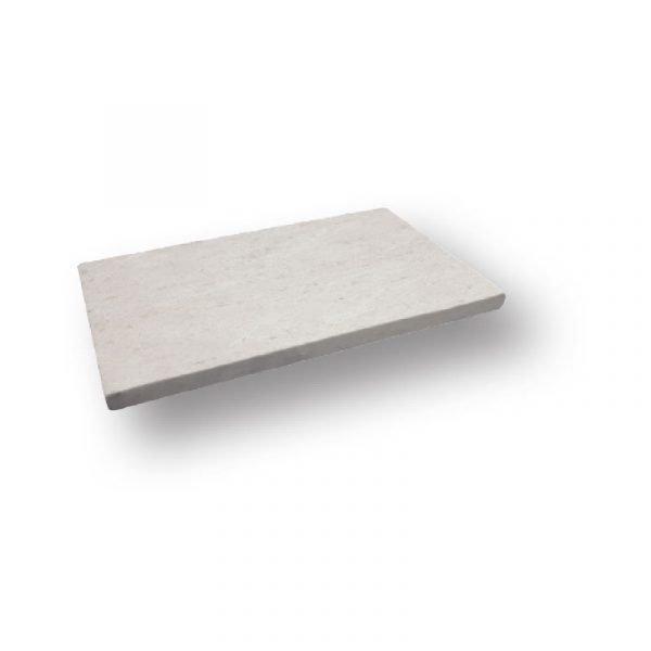 2 inch 12 X 24 Fossil Shell Tumbled Limestone Modern Flat Edge Pool Coping