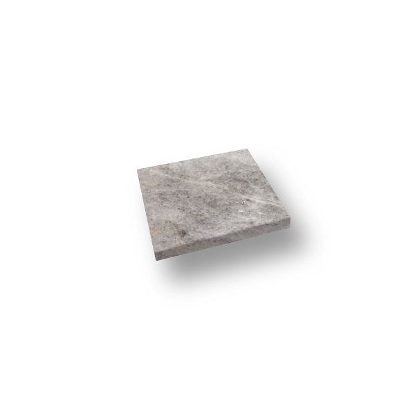 12x12 Silver Travertine Eased Edge Pool Coping