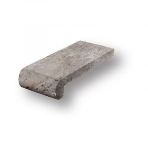 4x9 Silver Tumbled Travertine Remodel Pool Coping