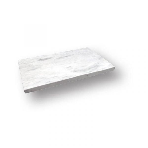 2 inch 12x24 Sky White Tumbled Marble Modern Flat Edge Pool Coping