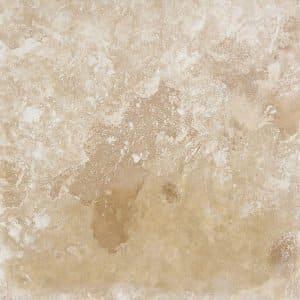 18x18 Ivory Blend Filled & Honed Travertine Tile